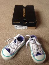 Converse DT Seasonal IN52 White / Periwinkle Size 4 Allstar Trainers - Boxed