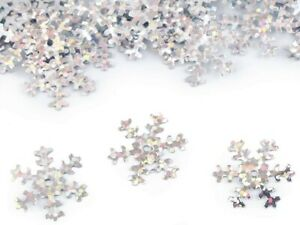 100 x 19mm Snowflake Sequins - laser silver, card making / 1-100-00031-100