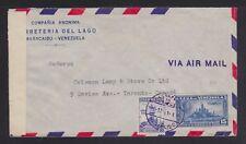 VENEZUELA 1941/4 TWO WWII CENSORED AIRMAIL COVERS BARQUISIMETO & MARACAIBO