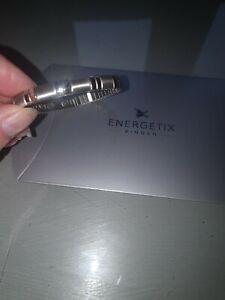 Energetix Flexible Bracelet, Magnetic Healing Jewellery, Medium, Stainless Steel