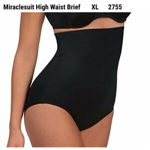 Miraclesuit 2755 Shapewear Smooth Comfort High Waist Brief Black XL Shaper Firm
