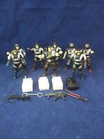 """Hk Design Afs Swat Team Police Man 4"""" Action Figures Lot Of 8"""