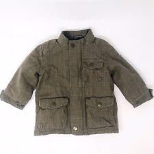 Baby Gap Boy Pea Coat 12-18 Mo Toddler Brown Herringbone Jacket Coat Warm
