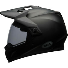 Bell Mx-9 Adventure MIPS Solid Dual Sport Helmet & Visor off Road Dirt Enduro MX Matte Black L Clear 7081269