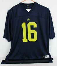 Adidas Mens 3XL Blue Michigan Wolverines Football Jersey #16 Denard Robinson
