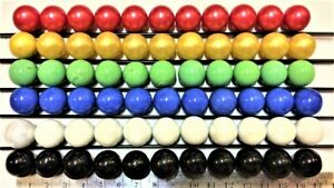 """60 Opaque Opal Solid 16mm 5/8"""" Glass Marbles for Games Chinese Checkers FREE SH"""