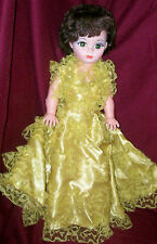 """Vintage Doll Glamour Girl Pm Sales 1966 Makeup 23"""" Yellow Gown  00004000 original"""