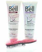 Hairbell Shampoo + Balsamo Flowers E Frutta + Districante Rosa Brillante Metallo