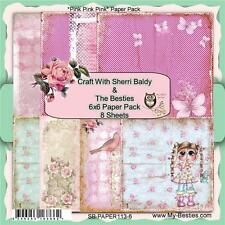 "NEW My-Besties SCRAPBOOK CARD PAPER PACK SET 6 X 6"" PINK PINK free us ship"
