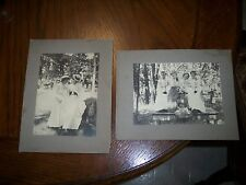 2 Charming Large Cabinet Vintage Photo's of a Ladies Day Out Nice Images Look