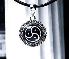 Submissive collar BDSM symbol triskele triskelion necklace dominant fetish slave