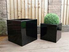 Medium Square Indoor Outdoor Planter Fibreglass Home Garden Office Plant Pot Box