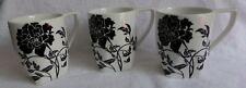 Coventry Dancing Blooms Black (3) Mugs tea coffee cup