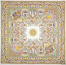 1657-1 PAVLOVO POSAD 100% PURE LINEN RUSSIAN TABLECLOTH KITCHEN COVER 144x144cm