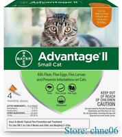 Advantage II Flea Treatment for Small Cats 5 lbs to 9 lbs - 4 Doses - New