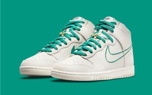 Nike Dunk High SE First Use Men's Shoes Bone/Sail/Green DH0960-001 Retro UK 10