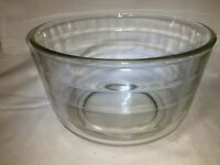 """Vintage Clear Heavy Glass Mixing Bowl for Stand Mixers 8.75""""x 5"""", Ribbed ~12 Cup"""