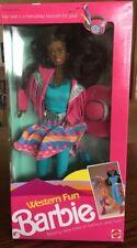 African American Western Fun Barbie (2930) New In Box