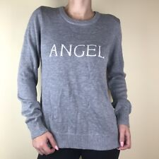 New Victoria's Secret Women's Sweater Crew Neck Long Sleeve Angel Gray L Large