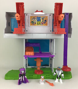 Teen Titans Go Tower Imaginext Cyborg Raven Krypto Figures Lot Toy Mattel 2016