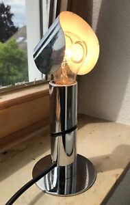 Chrom Lampe Tischlampe Space Age Sputnik Staff Cosack 60er 70er Jahre