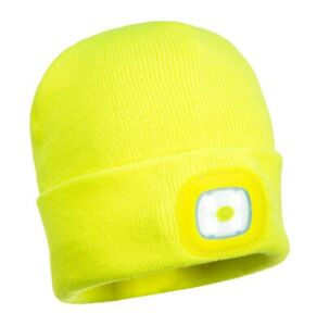 LED Beanie Safety PPE High Visability Company Business Hat USB Present Gift