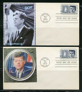 UNITED STATES 1964  JOHN F. KENNEDY 18  DIFFERENT CACHETED  FIRST DAY COVERS  D