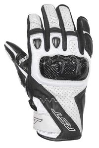 RST STUNT 3 WHITE CE Motorbike Leather Short Sports 2123 Gloves cheap