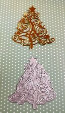 *** LOVELY STARRY SCROLLED ORNATE CHRISTMAS TREE *** - 1 Die - ***
