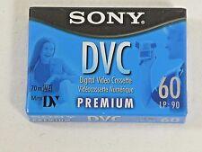 New in Package 1 Sony Digital Video Cassette DVC Mini DV  60 min Premium 70m