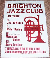 MORRISSEY MULLEN HENRY LOWTHER JAZZ CONCERTS POSTER SEPTEMBER 1980 BRIGHTON ADUR