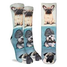 Good Luck Sock Dashing Dogs Socks Active Fit Adult Women's Men's Shoe Size 8-13