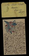 New listing Civil War Letter - 5th New York Cavalry - Trick Rebels, Hiding in Wagons !