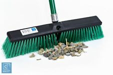 Stiff Outdoor Yard Sweeping Brush Garden Broom Sweeper Bristles Strong Handle
