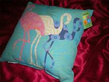"""Tropical Indoor Outdoor 3 Different Tapestry Pink Flamingo Pillow 19""""X 19"""""""