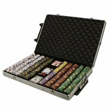 1,000ct. King's Casino 14g Poker Chip Set in Rolling Aluminum Metal Carry Case