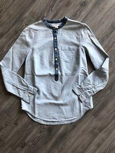 J.Crew Pullover Jean Shirt Button Down XXS Women's