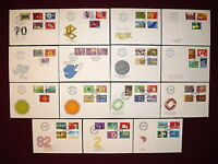 2569 - Svizzera, FDC - Lotto di 15 buste primo giorno (francobolli speciali)
