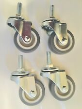 4 Pack of 3/8�-16 threaded stem casters with 2� x 7/8� Trp wheels