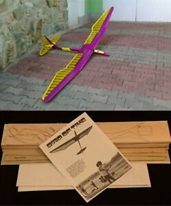 """118"""" Ws BIRD OF TIME R/c Glider Plane Partial kit/short kit and plans, PLS READ!"""