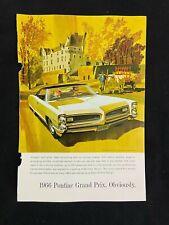 Pontiac Grand Prix Magazine Ad 7 x 10 Folbot Boat Sedgwick Stair Chair