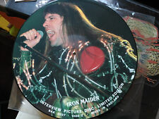 12'' IRON MAIDEN - LIMITED EDITION INTERVIEW PICTURE DISC - BAKTABAK UK VG+