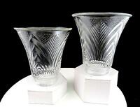"""ELEGANT PRESSED GLASS 2 PIECE ARCH AND DOTS PATTERN 2"""" FITTER 4 7/8"""" LAMP SHADES"""
