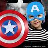 Captain America Shield Mask Cloak Marvel's The Avengers Cosplay Kids Toys Gift