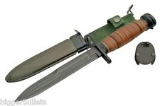 M1 CARBINE BAYONET LEATHER HANDLE AND M8 SCABBARD. M4 REPRODUCTION