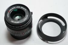 Konica M-Hexanon 35mm f/2 35/2 Lens with HL-4 Hood for Hexar RF Leica M Camera