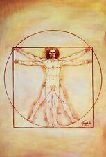 LEONARDO da Vinci-Studio delle proporzioni 60x90 cm riproduzione DIPINTO AD OLIO 5869