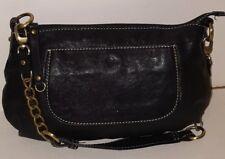 Chocolat Blu Small Black Leather Hobo Shoulder Handbag Purse New W O Tags