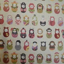 Russian dolls multi /cream - Rose and hubble by the metre