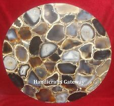 Gemstone Agate Handmade Table Tops, Beautiful Color Agate Coffee Table Top